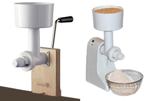 Family Grain Mill with Motor & Handle
